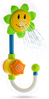 Advanced Play Best Baby Bath Toys for Toddlers Fun Interactive Sunflower Shower Water Squirt Bathtub Toys for Kids Children Babies Girls Boys