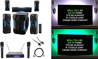 "Rockville Bluetooth Home Theater Karaoke Machine System w/8"" Sub + Wireless Mics"