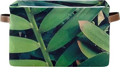 ALALAL Organisateur de Rangement rectangulaire Belle Organisation de Rangement de Feuilles Tropicales Vertes avec poignée ...