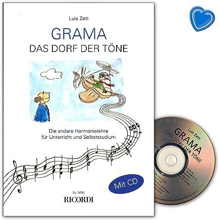 GRAMA 9783931788278 - Libro di apprendimentoIl villaggio dei toni, con CD e clip a forma di cuore colorato, edizione Ricordi Berlin SY2695
