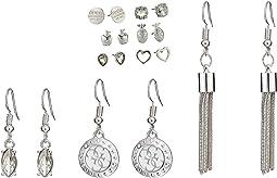 9-Pair Earrings Set Includes Stud and Dainty Drop Earrings