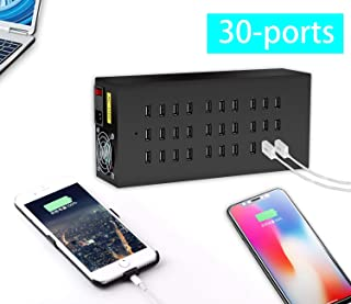 Multi Port USB Charging Station, Premium 30 Ports USB Charging Station for Multiple Devices Party Office(200W/40A)
