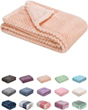 Fuzzy Blanket or Fluffy Blanket for Baby Girl or boy, Soft Warm Cozy Coral Fleece Toddler, Infant or Newborn Receiving Blanket for Crib, Stroller, Travel, Outdoor, Decorative (28 x 40 in, Peach)