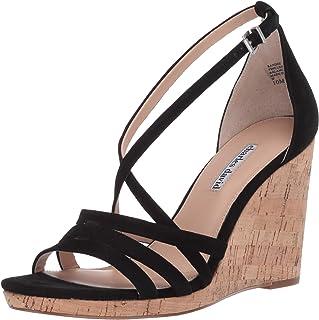 Charles David Women's Wedge Sandal, Black, 10 M