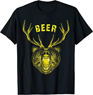 Funny Bear Deer Beer T Shirt, Bear+Deer=Beer
