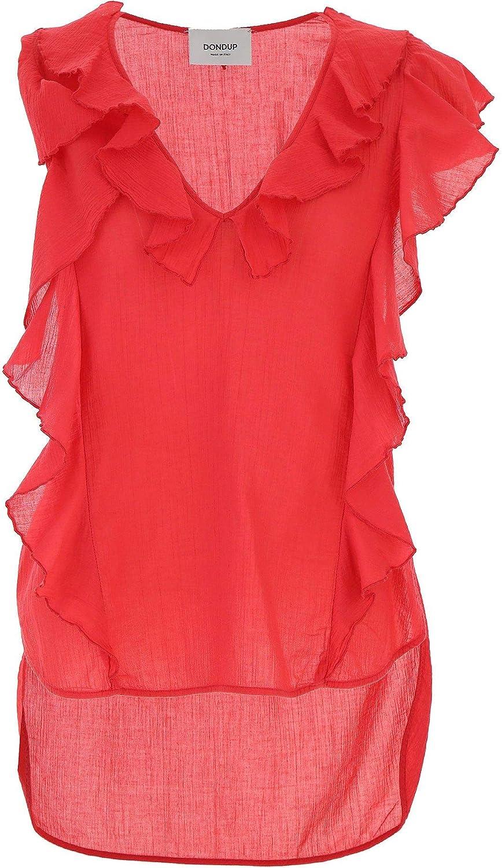 Dondup Women's DC042CF0153576 Red Cotton Tank Top