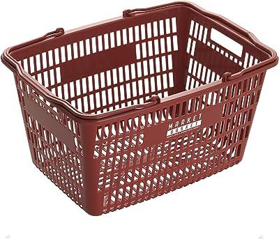 ベストコ 収納 買い物かご バスケット メッシュバスケット ワインレッド MA-3083 マーケット