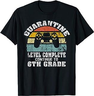 Retro Quarantine Level Complete Continue To 6th Grade T-Shirt