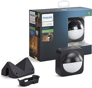 Philips Hue bewegingssensor Outdoor - IP54 - Activeer je Hue Lampen bij Beweging - Met Ingebouwde Lichtsensor - Overal Een...