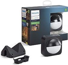 Philips Hue 929001975801 bewegingssensor Outdoor, IP54, Activeer je Hue Lampen bij Beweging, Met Ingebouwde Lichtsensor, O...