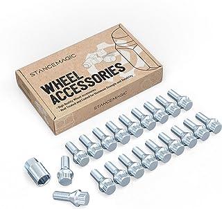 20pcs Locking Spline 12x1.5 Lug Bolts with Socket Key (26mm OEM Shank Length, Cone Seat) Compatible with BMW 128i 135i 318...