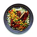 Amazon Meal Kits, Blackened Tilapia with Succotash & Garlic Buttered Rice, Serves 2