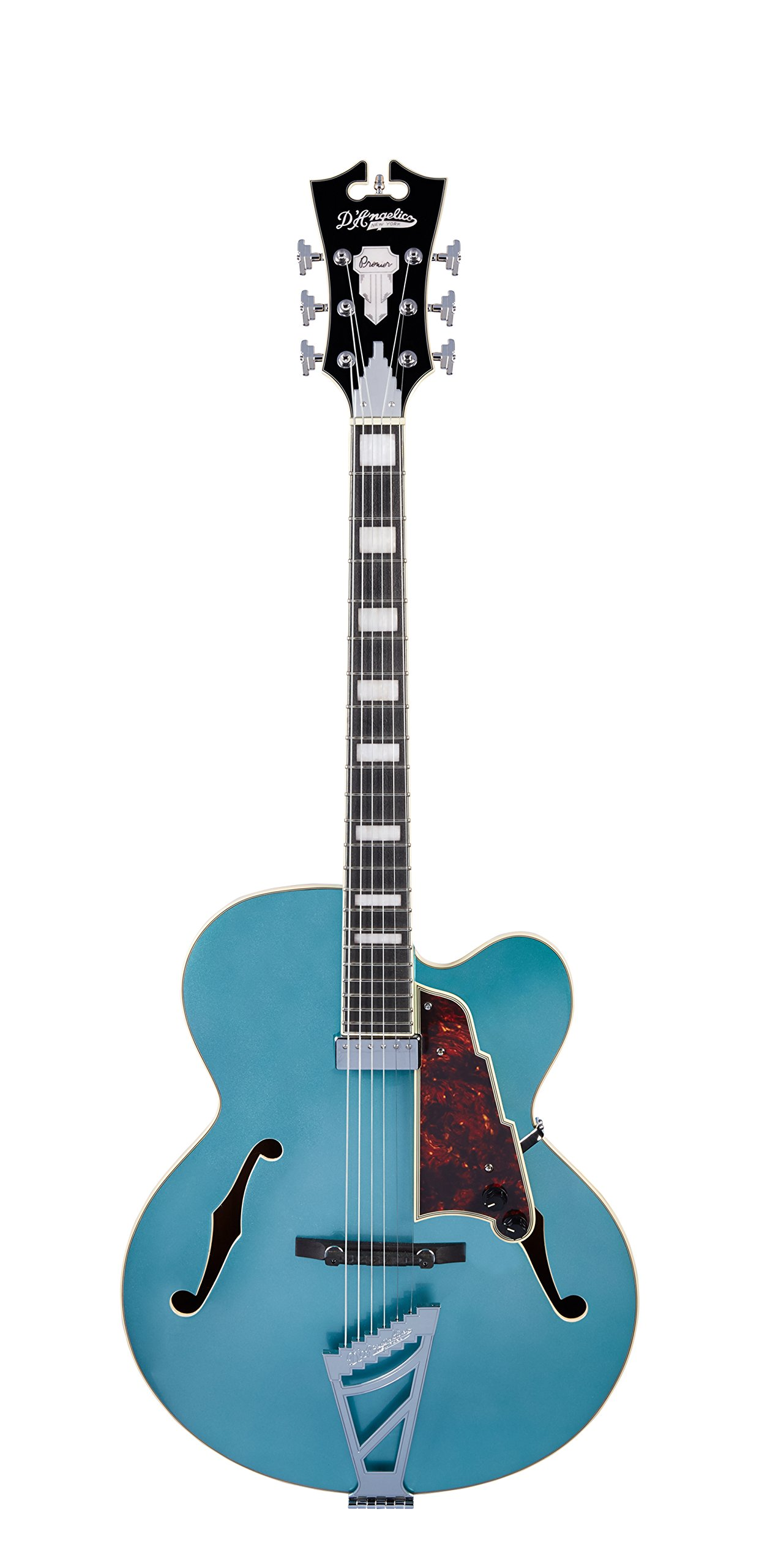 Cheap D Angelico Premier EXL-1 Hollow-Body Electric Guitar w/ Stairstep Tailpiece - Ocean Turquoise Black Friday & Cyber Monday 2019