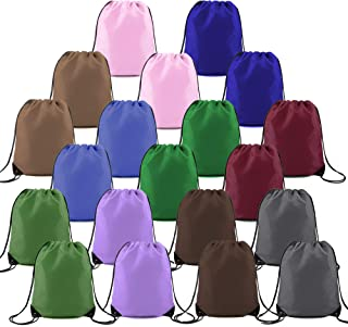 String Backpack Bags 20 Pack Bulk Large Personalized drawstring Sack Perfect for Iron-on Transfer Sports Gym Athletic Cinch Sackpack Solid Color Mixed Colors