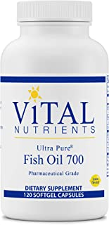Vital Nutrients - Ultra Pure Fish Oil 700 (Pharmaceutical Grade) - Hi-Potency Wild Caught Deep Sea Fish Oil, Cardiovascula...
