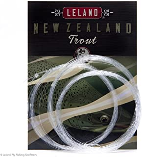 Leland Rod Company New Zealand Trout Fly Fishing Leader, 12' 4x (3-pack) The best leader on the market.