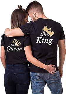 88ef0058176751 Daisy for U King Queen Pärche Shirts Set für Paar Partner Look T-Shirt  Velentienstag