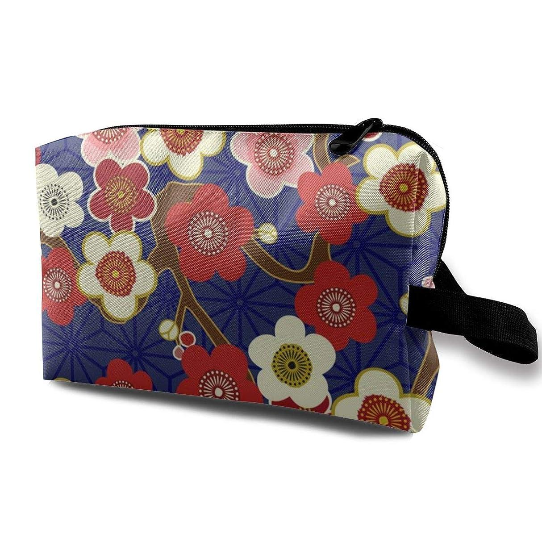 断言する通常厳桜の花 和風 化粧品袋 トラベルコスメティックバッグ 防水 大容量 荷物タグ付き 旅行収納ポーチ アレンジケース パッキングオーガナイザー 出張 旅行 衣類収納袋 スーツケース整理 インナーバッグ メッシュポーチ 収納ポーチ