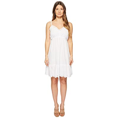 McQ Broderie Anglaise Mini Dress (Optic White) Women