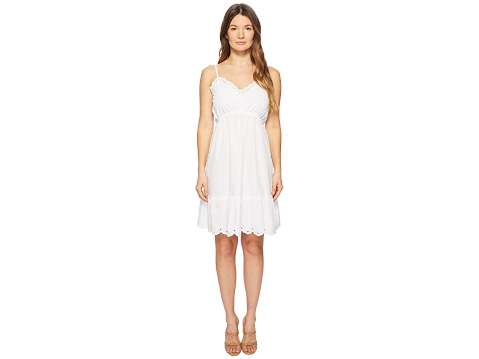McQ Broderie Anglaise Mini Dress (Optic White) Women