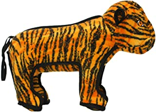 TUFFY - World's Tuffest Soft Dog Toy - Zoo Tiger - Multiple Layers. Made Durable, Strong & Tough. Interactive Play (Tug, Toss & Fetch). Machine Washable & Floats.