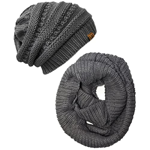 447d14d9ff85a Wrapables Women s Plaid Print Infinity Scarf and Beanie Hat Set