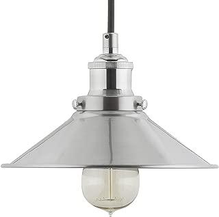 Andante Industrial Kitchen Pendant Light – Brushed Nickel Hanging Fixture - Linea di Liara LL-P407-BN