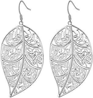 earring Mode Ohrringe Kreative Ohrringe Europa & Amerika Schmuck Versilbert Hohle Baum Blatt Ohrringe