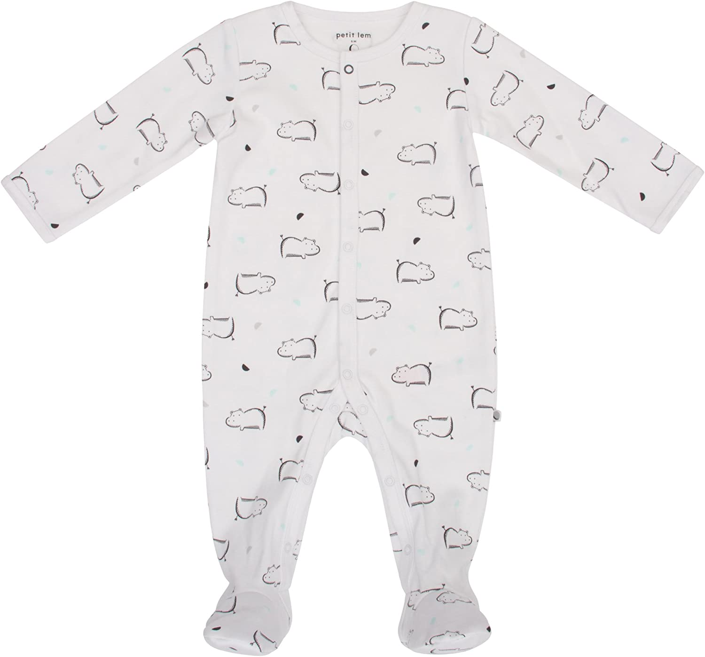 Petit Lem Girls' Baby Sleeper, Organic Cotton, Softand Cute Onesie Pajamas