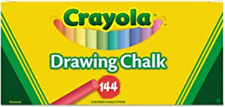 Crayola 510400 Colored Drawing Chalk, Six Each of 24 Assorted Colors, 144 Sticks/Set