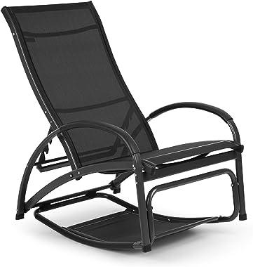 blumfeldt Beverlywood - Chaise Longue, Fauteuil à Bascule, Facile à Nettoyer, Cadre en Aluminium, Design Ergonomique, Comfort