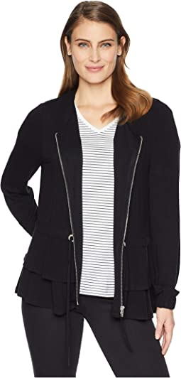 Long Sleeve Zip Front Cardigan