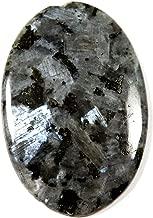 Gems&Jewels Natural Larvikite Blue Norwegian Moonstone Cabochon Oval Gemstone 35.25ct IK14