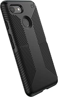 Speck Products Compatible Phone Case for Google Pixel 3, Presidio Grip Case, Black/Black