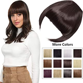 Clip in Bangs Fringe Hair Extensions with Temples Synthetic Fashion Hair-pieces Dark Brown