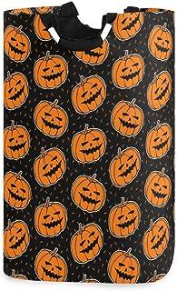 N\A Orange Citrouille Halloween Panier à Linge Panier Grand bac de Lavage Pliant Rangement Pliable Sac à vêtements Pliable...