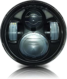 GENSSI 5 3/4 Inch Round LED Projector Black Headlight H5001 4000 H5006 (Pack of 1)