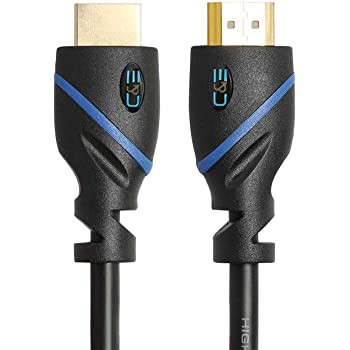 50ft (15.2M) High Speed HDMI Cable Male to Male with Ethernet Black (50 Feet/15.2 Meters) Supports 4K 30Hz, 3D, 1080p and Audio Return CNE59007
