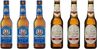 【 ビール王国 ドイツ の ノンアルコール ビール 6本セット 】エルディンガー アルコールフリー 330mlx3本, ビットブルガー ドライブ 0.0% (ノンアルコール) 330ml×3本