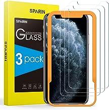 SPARIN [Lot de 3] Compatible avec Verre Trempé iPhone 11 Pro 2019/iPhone XS/iPhone X, Protection Ecran Film Protecteur [Outil D'alignement Facile] [Sans Bulles] [Haut Définition] [2.5D/9H Dureté]
