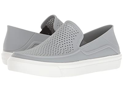 Crocs Kids CitiLane Roka (Toddler/Little Kid) (Light Grey/White) Kid