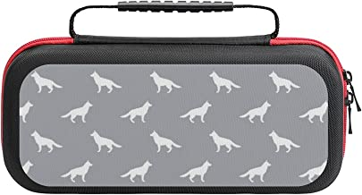 $26 » German Shepherd Silhouette Dog Quarry Case Compatible with Switch Case Protective Carry Bag Hard Shell Storage Bag Portabl...