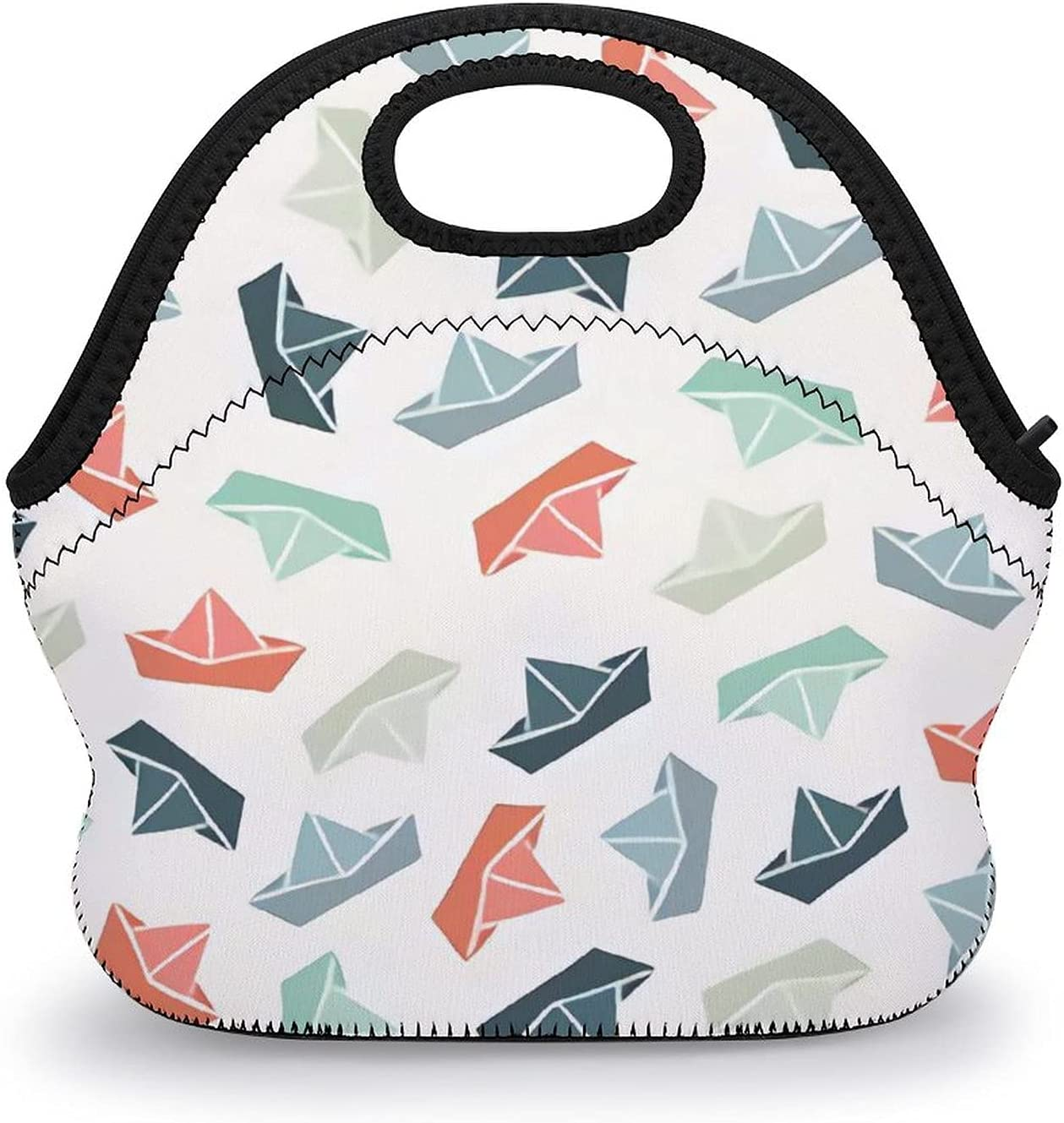 Upgraded lunch Cheap mail order shopping bag,Multicolor Boat Oklahoma City Mall Vector,reusab Paper