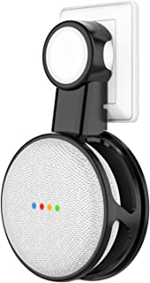 Vapesoon Outlet Wall Mount Holder for Google Home Mini,No Muffled Sound A Space-Saving Accessories for Google Home Mini Voice Assistant(Black)