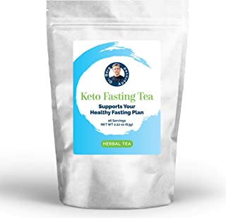 Dr. Berg's Keto Fasting Tea (Unsweetened) Caffeine-Free - an Appetite Suppressant Rooibos Herbal Tea Drink to Help Reduce ...