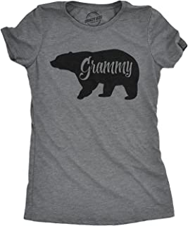 Womens Grammy Bear Tshirt Cute Family Member Tee for Ladies