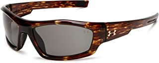 Under Armour Power Sport Sunglasses, Fire Tortoise Frame/Gray Lens, One Size