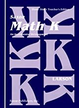 Saxon Math K Homeschool Teacher's Manual 1st Edition