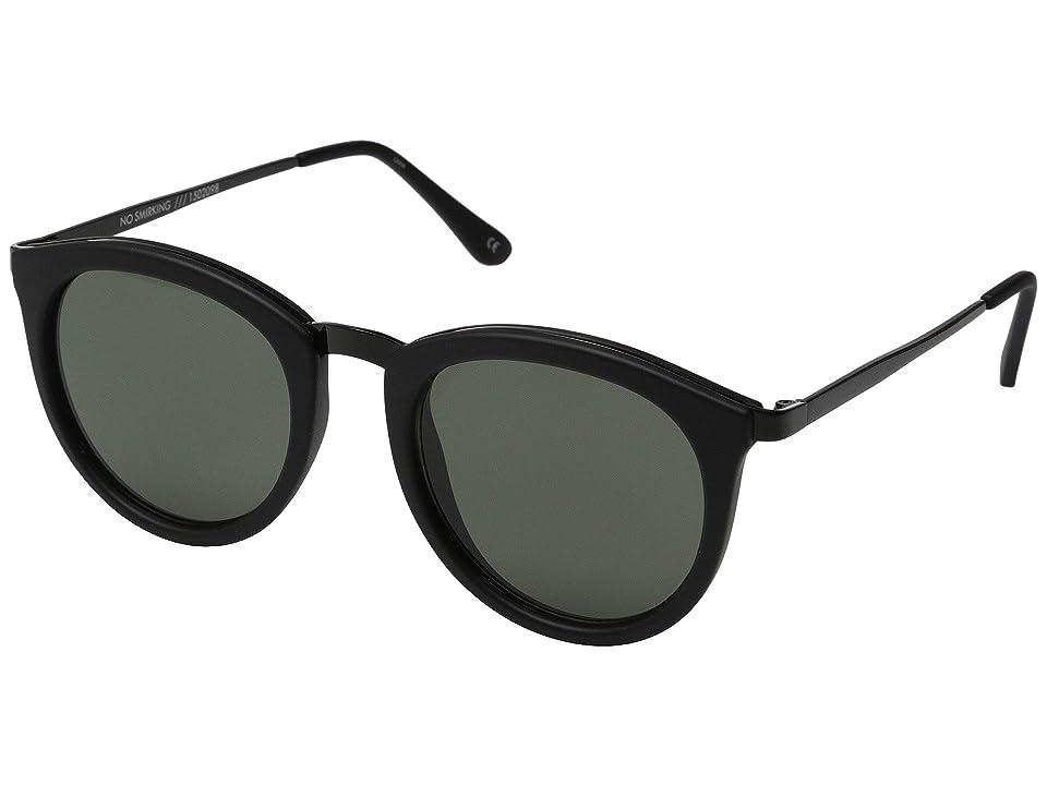 Le Specs No Smirking (Black Rubber/Khaki Mono) Fashion Sunglasses