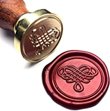 UNIQOOO Elegant Love Heart The Knot Wax Seal Stamp for Wedding, Great for Embellishment of Cards Envelopes, Invitations,Snail Mails, Wine Packages, Letter Sealing, Mother's Day Gift Ideas for Wife